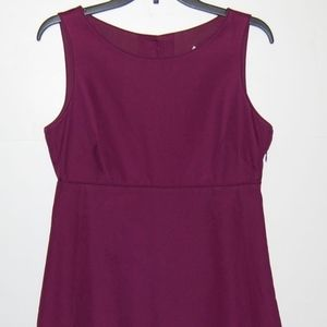 J.Crew sleeveless a-line button back dress